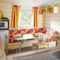 le salon  - Camping Les Parcs