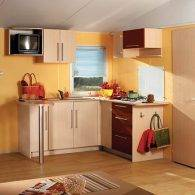 la cuisine du mobil home - Camping Les Parcs