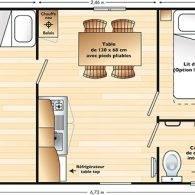 le plan du domino - Camping Les Parcs