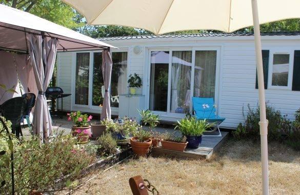 le mobil home riviera confort - Camping Les Parcs