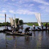bateau traditionnel dans le marais de brière - Camping Les Parcs