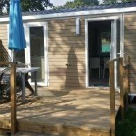 mobil home 4/6 places avec sa grande terrasse dans un camping de penestin - Camping Les Parcs