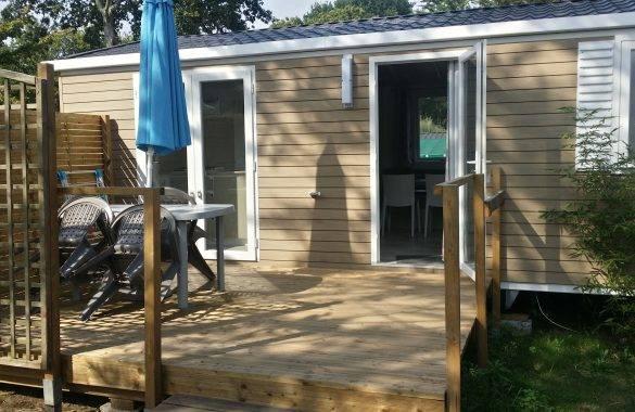 mobil home 4/6 places avec grande terrasse - Camping Les Parcs