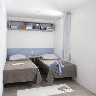 la chambre à 2 lits - Camping Les Parcs