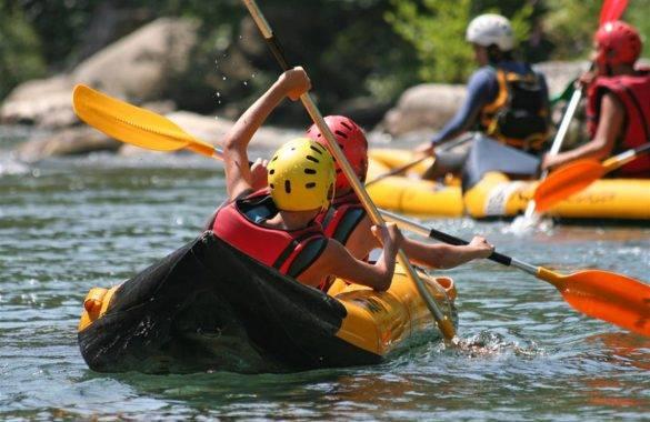 pratique du kayak de mer - Camping Les Parcs