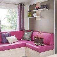 intérieur confortable des mobil homes - Camping Les Parcs