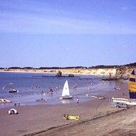 vue sur la plage - Camping Les Parcs