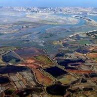 vue  aérienne des marais salants et du croisic  - Camping Les Parcs