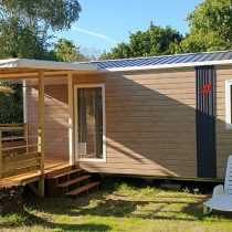 camping pénestin location mobil-home avec terrasse couverte